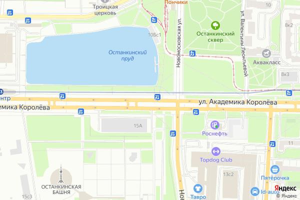 Ремонт телевизоров Улица Академика Королева на яндекс карте
