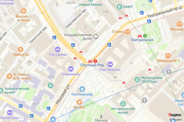 Ремонт телевизоров Метро Охотный ряд на яндекс карте