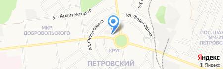 АТБ на карте Донецка