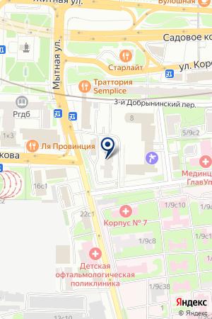 ИНФОРМАЦИОННОЕ БЮРО НАТО на карте Москвы