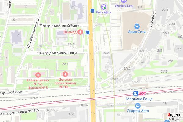 Ремонт телевизоров Улица Шереметьевская на яндекс карте