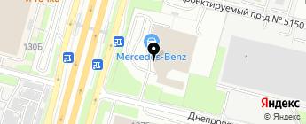 Звезда Столицы Варшавка на карте Москвы
