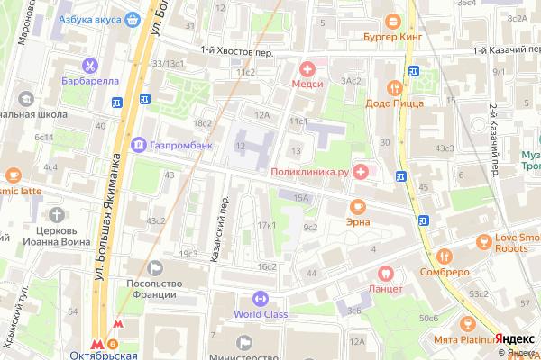 Ремонт телевизоров 1 й Спасоналивковский переулок на яндекс карте