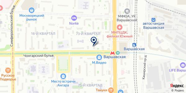 Магазин табачных изделий на карте Москве