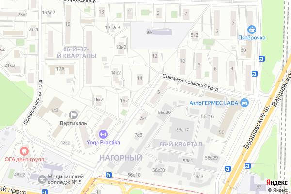 Ремонт телевизоров Симферопольский проезд на яндекс карте