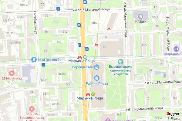 Ремонт телевизоров 3 й Марьиной Рощи проезд на яндекс карте