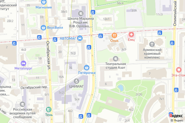 Ремонт телевизоров Улица Советской Армии на яндекс карте