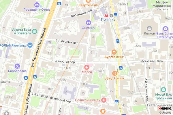 Ремонт телевизоров Улица Малая Полянка на яндекс карте