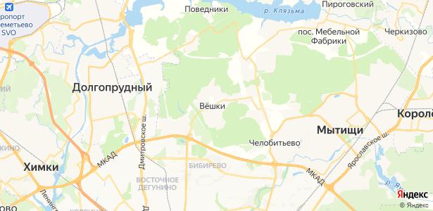 Вешки на карте
