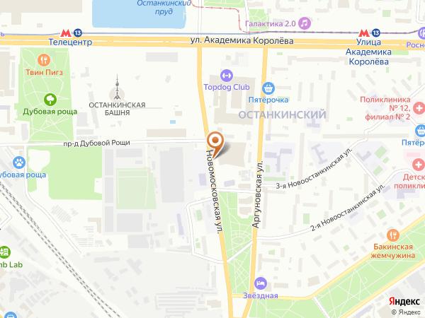 Остановка Экскурсионный корпус телебашни в Москве