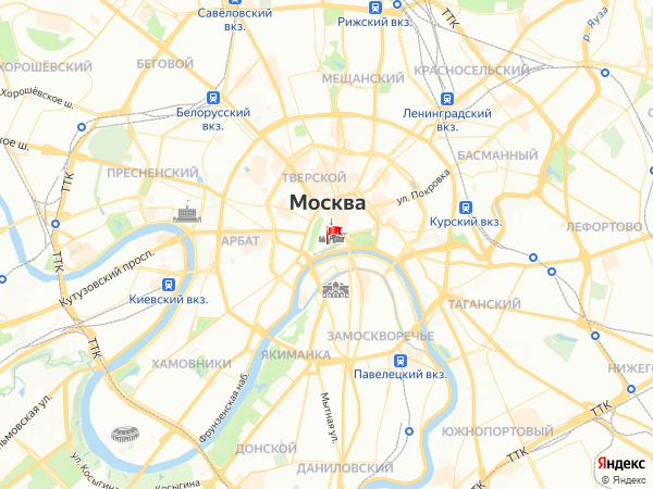 Карта город Москва