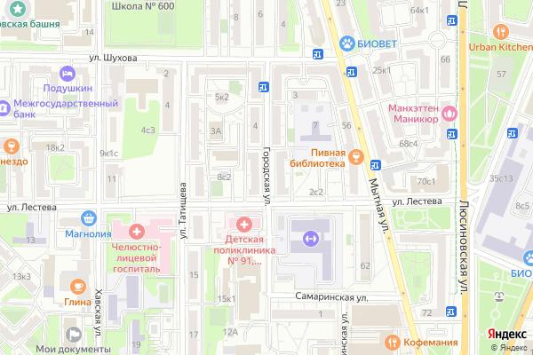 Ремонт телевизоров Улица Городская на яндекс карте