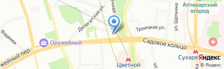Чартекс-авиа на карте Москвы