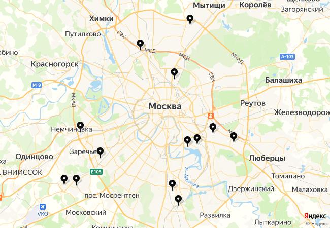 Замена цепи ГРМ Мазда СХ 5 на карте Москвы