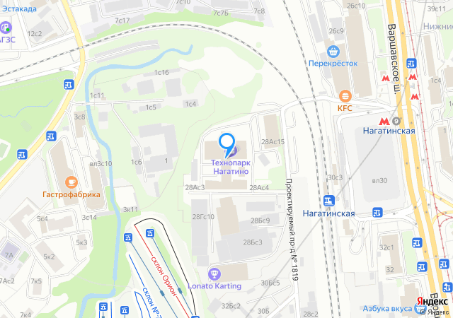 Москва, «Свободное плавание» наВаршавском шоссе, 28A.