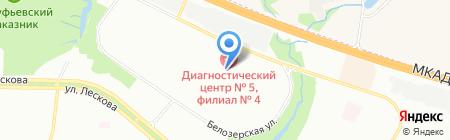 Спортивно-адаптивная школа на карте Москвы