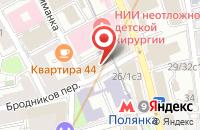 Схема проезда до компании Служба Времени в Москве