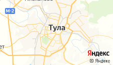 Гостиницы города Тула на карте