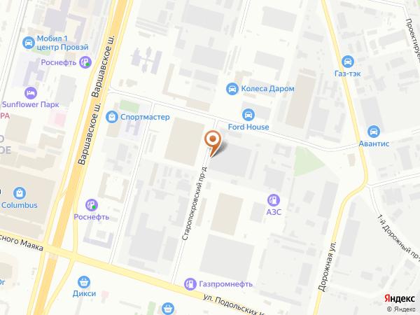 Остановка «Промзона Чертаново», Старопокровский проезд (1008633) (Москва)