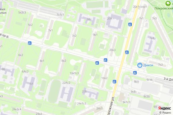 Ремонт телевизоров 3 й Дорожный проезд на яндекс карте