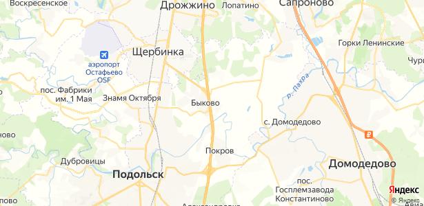 Быковка на карте