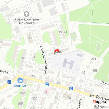 г. Тула, ул. Комсомольская,191/1 на карта