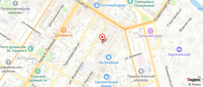 Карта расположения пункта доставки Сеть салонов связи Мобильный Мир в городе Тула