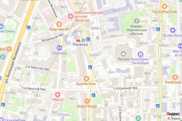 Ремонт телевизоров Улица Большая Полянка на яндекс карте