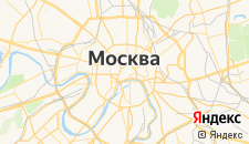Гостиницы города Москва на карте