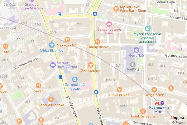 Ремонт телевизоров Улица Неглинная на яндекс карте