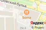 Схема проезда до компании Дэнас в Москве