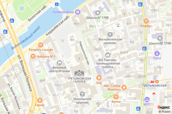 Ремонт телевизоров Лаврушинский переулок на яндекс карте