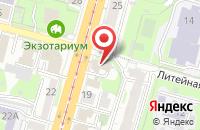 Схема проезда до компании Роза ветров в Зеленоградске
