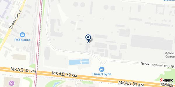 Пункт технического осмотра на карте Москве