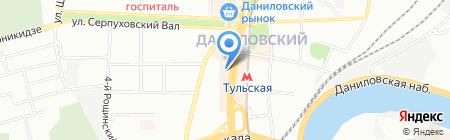 Белый кот на карте Москвы