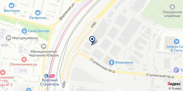 Форштадт на карте Москве