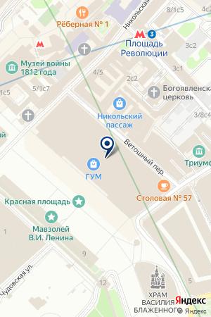 МАГАЗИН СУВЕНИРОВ SWAROVSKI на карте Москвы