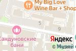 Схема проезда до компании Сандуновские бани в Москве