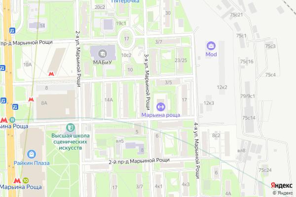 Ремонт телевизоров Улица 3 я Марьиной Рощи на яндекс карте