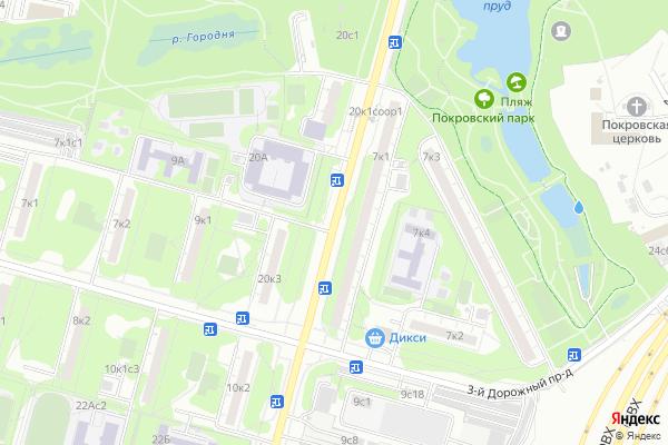 Ремонт телевизоров Улица Дорожная на яндекс карте
