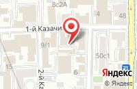 Схема проезда до компании Ахмадия в Москве