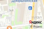 Схема проезда до компании Натяжные потолки Добрынинская в Москве