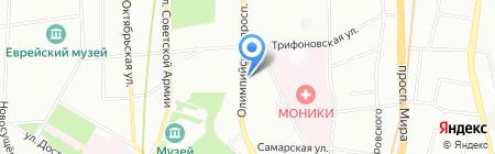 Амадеус на карте Москвы