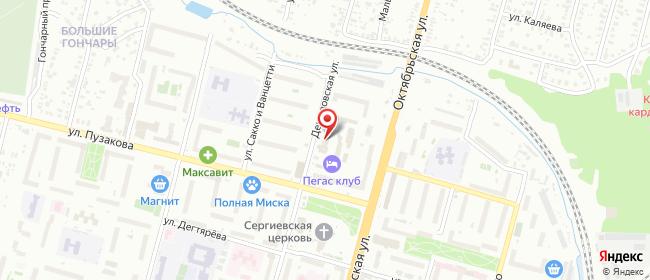 Карта расположения пункта доставки Тула Демидовская в городе Тула