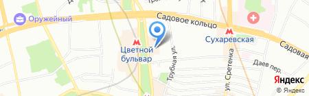 Ультратур на карте Москвы