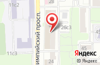 Схема проезда до компании Межстройсервис в Москве