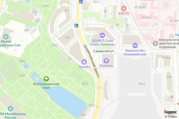 Ремонт телевизоров Олимпийский проспект на яндекс карте