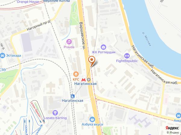 Остановка Метро Нагатинская в Москве