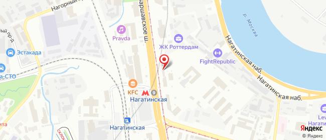 Карта расположения пункта доставки Москва Варшавское в городе Москва