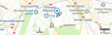 Жезл на карте Москвы